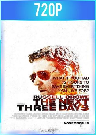 Los Próximos Tres Días (2012) HD 720p Latino Dual