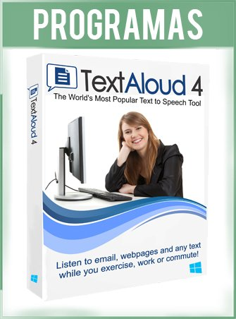 TextAloud 4 Full Español Programa de Texto a Voz Muy Fácil