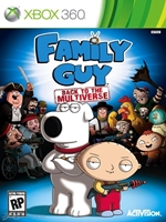 Portada de Family Guy Back To The Multiverse Xbox 360 Español Región Free 2012