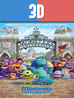 Monsters University 3D SBS Latino
