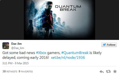 Quantum Break posible retraso para 2016