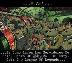 Asi lucen los servidores de Halo, COD, LOL, Entre otros