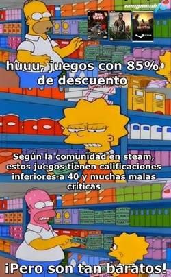 Hace algunos días les comentábamos de los descuentos de verano 2015 en steam, pero Homero se ha enterado de un gran defecto que tienen dichos descuentos