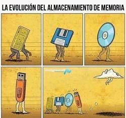 Meme Evolución del Almacenamiento
