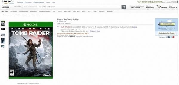 Fechas de lanzamiento para Forza Motorsport 6 y Rise of the Tomb Raider