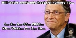 Bill Gates contando hasta 10