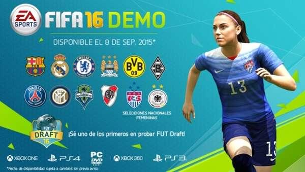 Detalles de la demo de FIFA 16 anunciada para 8 de septiembre.