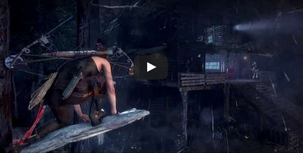 Gameplay de Rise of the Tomb Raider muestra a Lara Croft sigilosa.