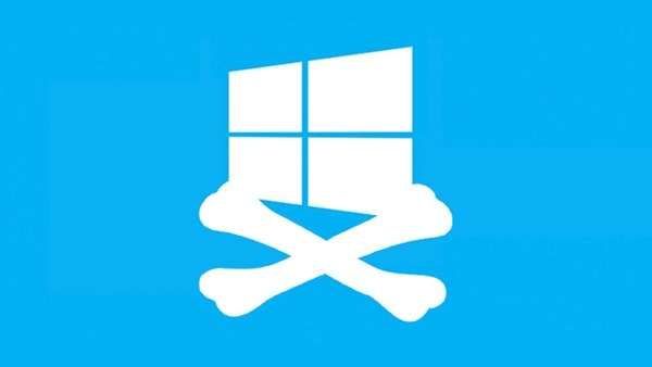 Windows 10 no desactivará aplicativos piratas.