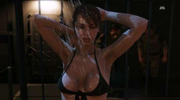 Escena en la ducha de la sexy Quiet en Metal Gear Solid V