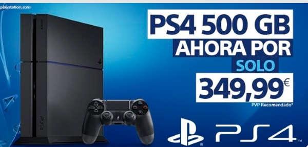 PlayStation 4 baja de precio a 349,99 euros.