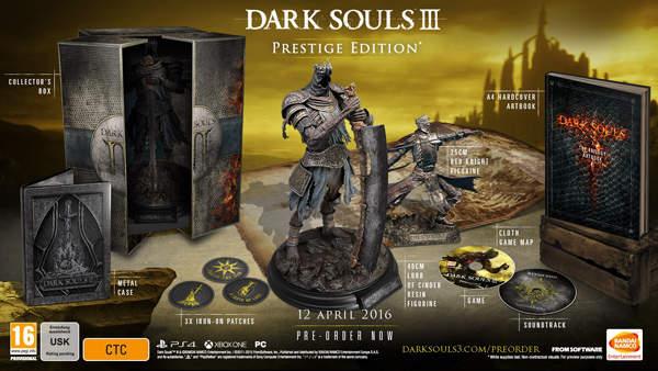 Dark Souls 3 llega el 12 de abril del 2016 en tres ediciones.