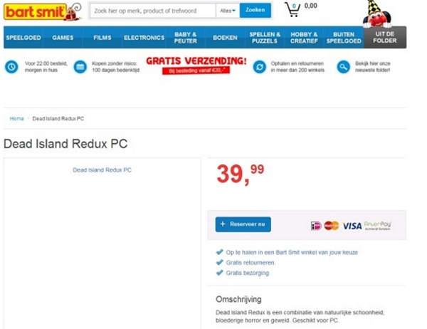Sitio holandés pone en venta Dead Island Redux