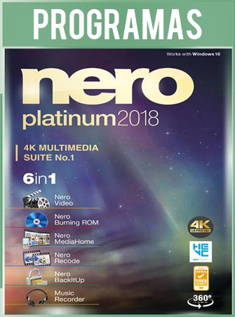 Nero 2018 Platinum Versión 19.0.10200 Full Español