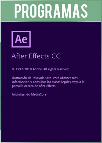 After Effects CC 2019 Versión 16.1.2.55 Full Español