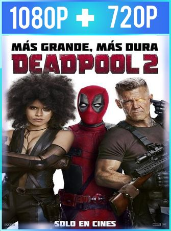 Deadpool 2 (2018) HD 1080p y 720p Latino