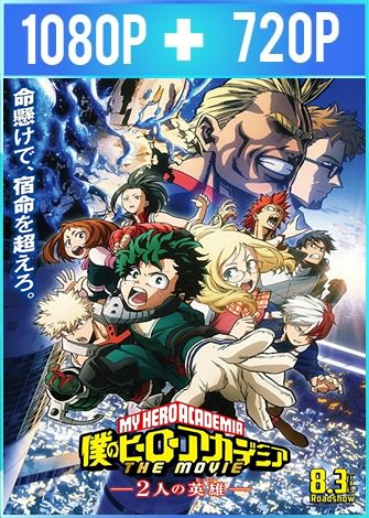 My Hero Academia: Two Heroes (2018) HD 1080p y 720p Latino Dual