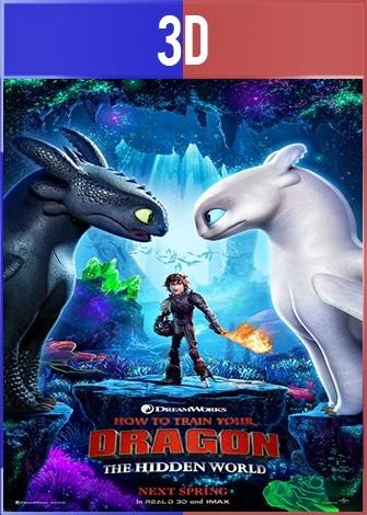 Como entrenar a tu Dragón 3 (2019) 3D SBS Latino Dual