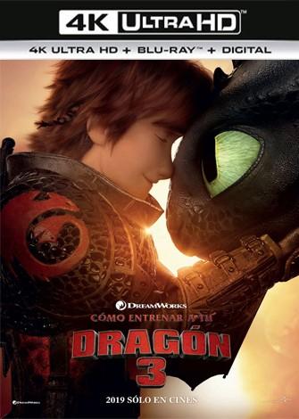 Cómo entrenar a tu dragón 3 (2019) 4K Ultra HD Latino Dual