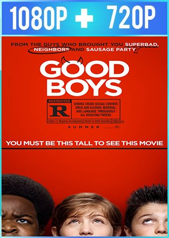 Good Boys [Chicos Buenos] (2019) HD 1080p y 720p Latino Dual