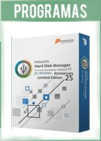 Paragon Hard Disk Manager Versión Anniversary Limited Edition 17.10 Full