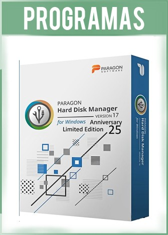 Paragon Hard Disk Manager Versión Anniversary Limited Edition 17.10 Full